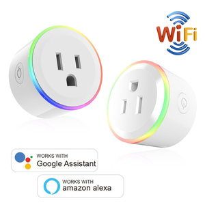Image 2 - WiFi Switch Mini Socket Plug Wireless Remote Control Outlet with Timer,Dimmer LED Light, Smart Home Compatible with Alexa Google