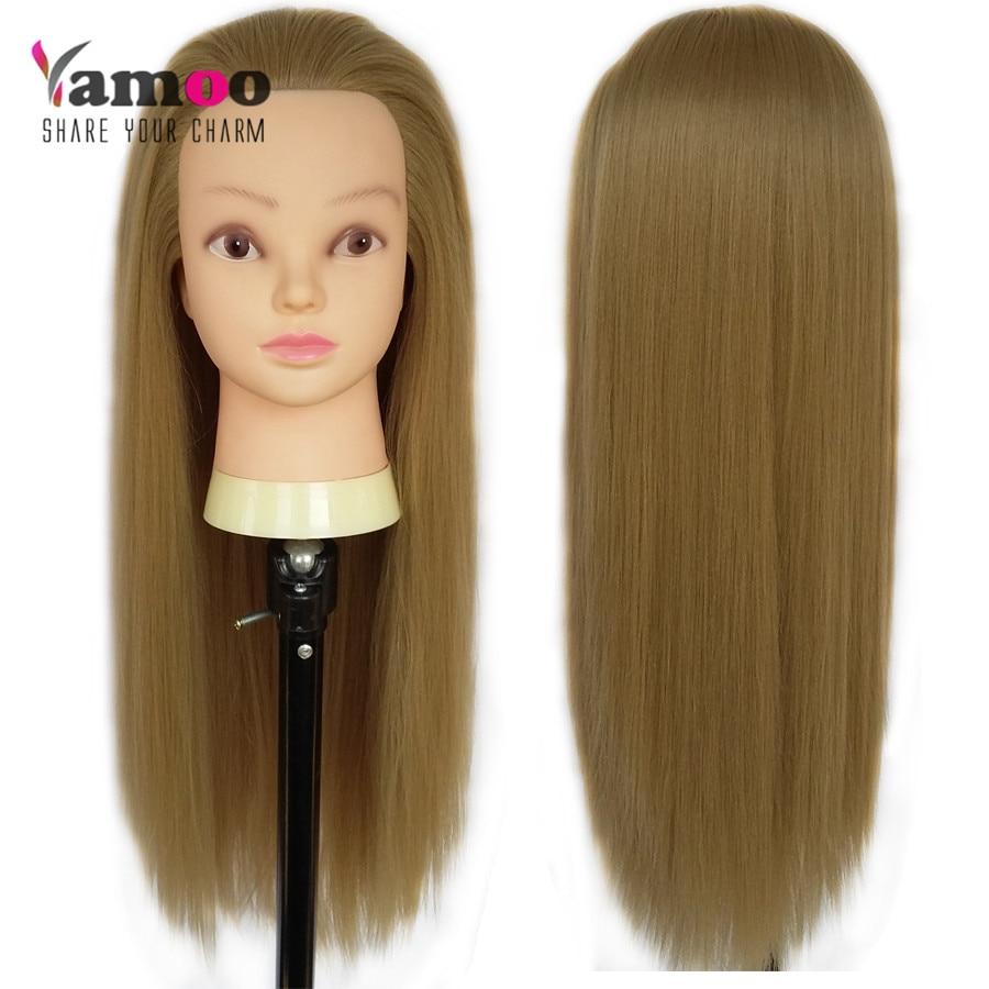 hair dressing training head 65 cm 100% High Temperature
