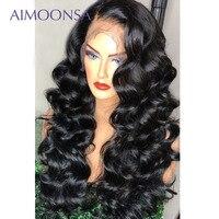 Синтетические волосы на кружеве парик человеческих волос 250 плотность Синтетические волосы на кружеве парик предварительно выщипать круже
