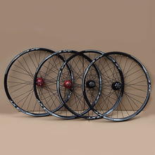 цена на MTB Bike Wheelset Aluminum Alloy Wheel 32H Disc Brake 11 Speed 4 Bearings Bicycle Wheels Mountain Bike Part  26 27.5 29inch