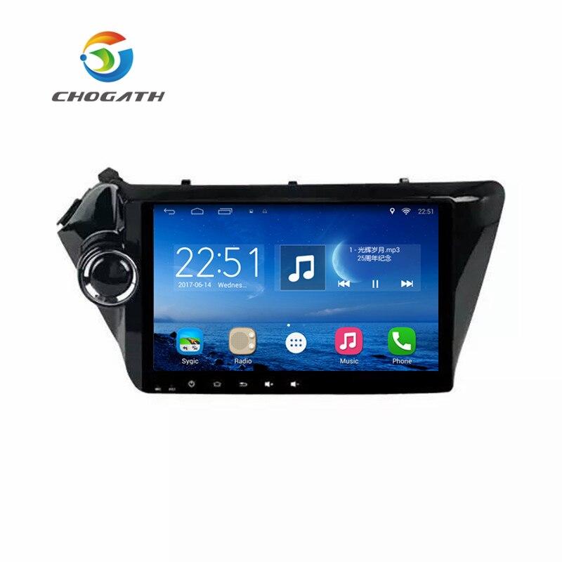 Lecteur multimédia de voiture Quad Core ChoGath 9 ''Android 9.0 lecteur GPS de Navigation radio de voiture pour Kia RIO/K2 2011-2015 sans Canbus