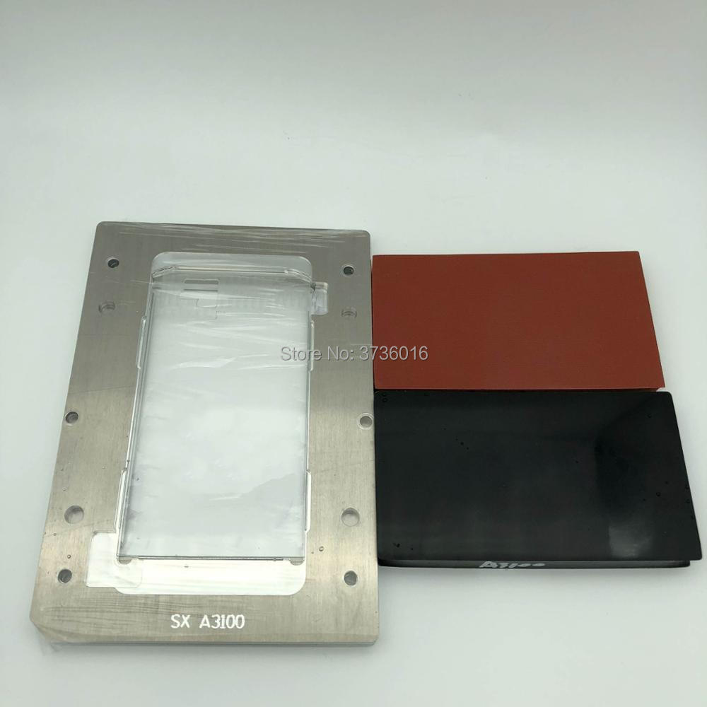 YMJ glass laminating mold for samsung A3100 oca polarizer film lcd fit vacuum laminating for mobile phone repair renovationYMJ glass laminating mold for samsung A3100 oca polarizer film lcd fit vacuum laminating for mobile phone repair renovation