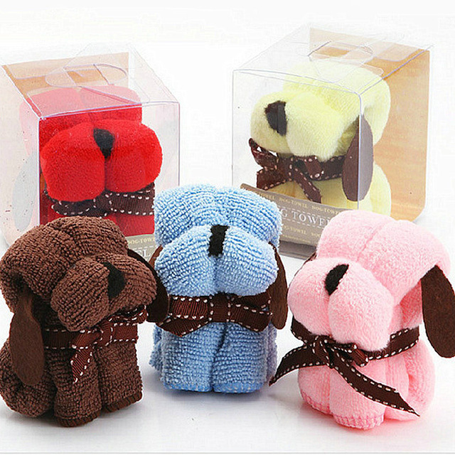 Wholesale Wedding Supplies Product Size 20 20CM Festivals Small Dog Puppy Towel Gift Ideas Birthday