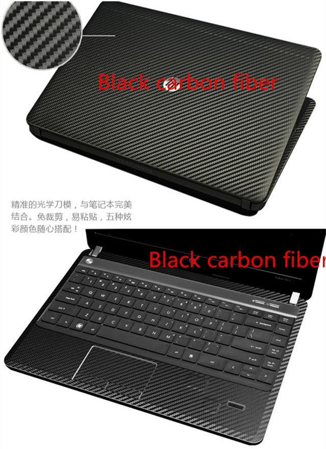 Специальные виниловые наклейки для ноутбука из углеродного волокна для ASUS G75 G75VW G75VX 17,3 дюйма - Цвет: Black Carbon fiber