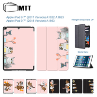 Cartoon Animal Cover For Apple IPad 9 7 2017 A1822 A1823 Case Magentic TriFold PU Leather