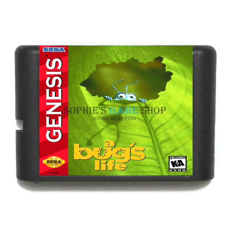 A Bug s Life 16 bit MD Game Card For Sega 16bit Game Player