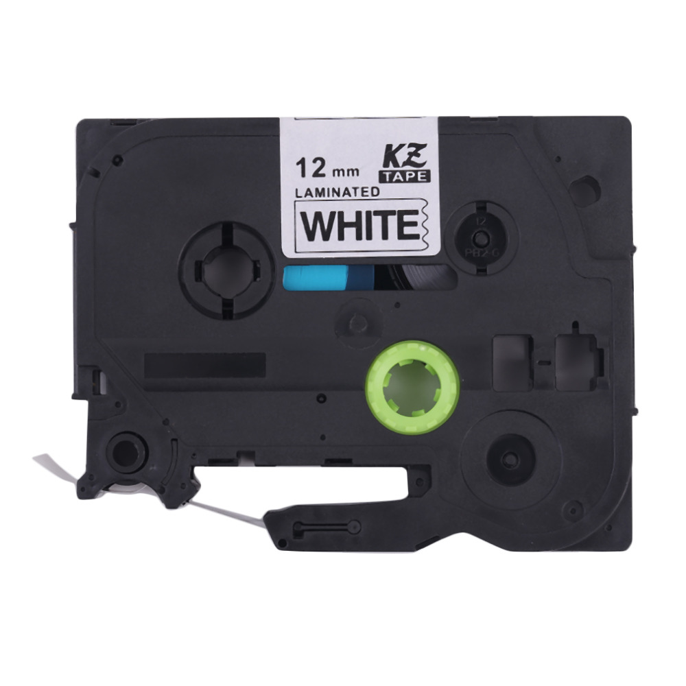 Professional Black On White 9MM/12MM Label Maker Tape