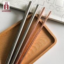 Wowshine 4 шт металлическая прямая соломинка для питья с Экосумка соломка из нержавеющей стали+ 4 Щетки пищевой 6 мм* 8 мм* 9,5 мм* 12 мм