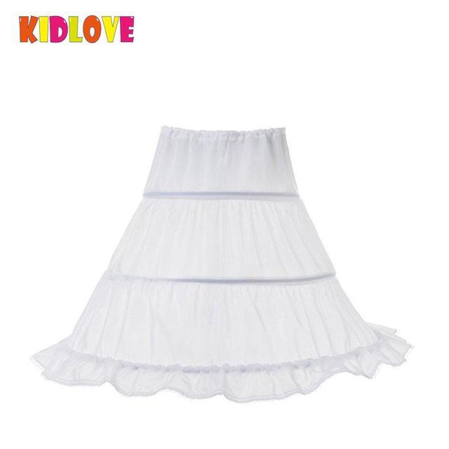 KIDLOVE  Princess Flower  Girl's Skirt Multilayer Ruffled Princess Skirt  Elegant Wedding Skirt Support Skirt Girls Petticoats
