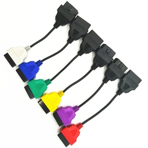 Image 5 - Neueste 6 Farbe Auto OBD2 Anschluss Diagnose Adapter Kabel für FiatECUScan und Multiecuscan für Fiat Alfa Romeo und für Lancia