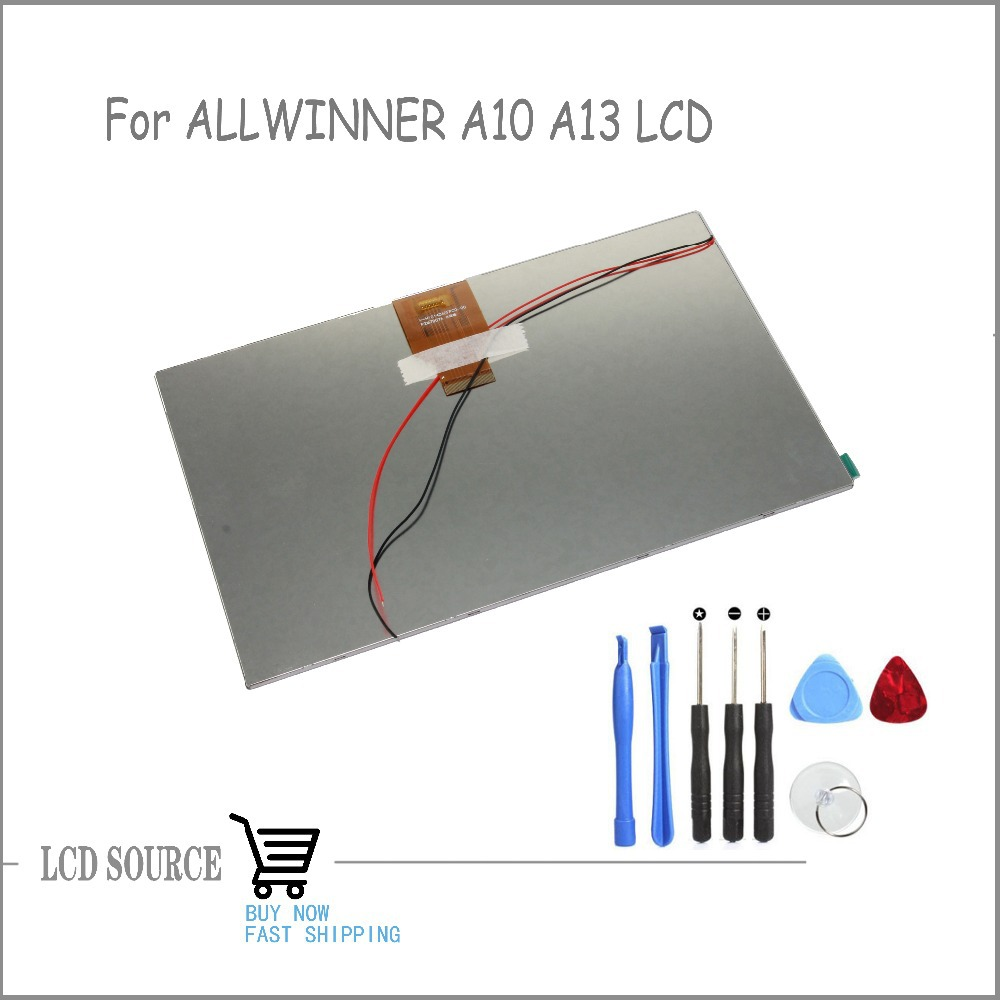 OEM 10.1 Inch For ALLWINNER A10 A13 TFT LCD Display V-H10140A0FPC0-00 P2M7907A LCD Glass Replacement Parts Free Tools