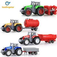 LeadingStar 4Pcs Set Children Simulation Alloy Farm Tractor Engineering Truck Toys Xmas Vehicles Models Gifts Zk30