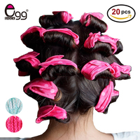 20Pcs Pink Pillow Soft Sponge Foam Hair Curler Roller Easy Curlring Styling Salon Barber Hairdressing Hairstyling tools kit