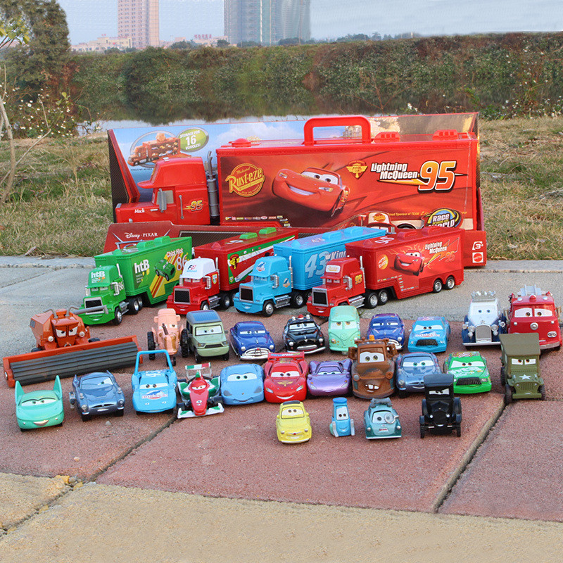 27 Styles Hot Sale Disney Pixar Cars Diecast Alloy Metal Toy Car For Children 1:55 Scale Cute Cartoon McQueen Car Model