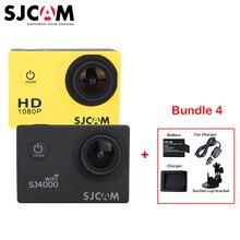 Оригинальный SJCAM SJ 4000 SJ4000 WI-FI 1080 P HD 30 м Водонепроницаемый Спорт действий Камера + дополнительная Батарея + Зарядное устройство машины Зарядное устройство + присоске