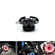 black M20*2.5 Motorcycle  Fuel Gas Tank Oil Cap  CNC Tank Cap tanks Cover FOR ducati 749 triumph daytona 675 765r 09-12 10 11