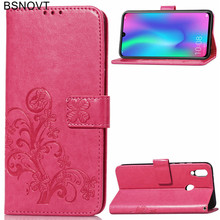 For Huawei P Smart 2019 Case Soft Silicone Leather Wallet Phone Bag Cover
