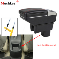 Armrest Box For SUZUKI SX4 2006 2018 Central Console Arm Rest Store Content Box Cup Holder Ashtray Seat Armrests Car Styling