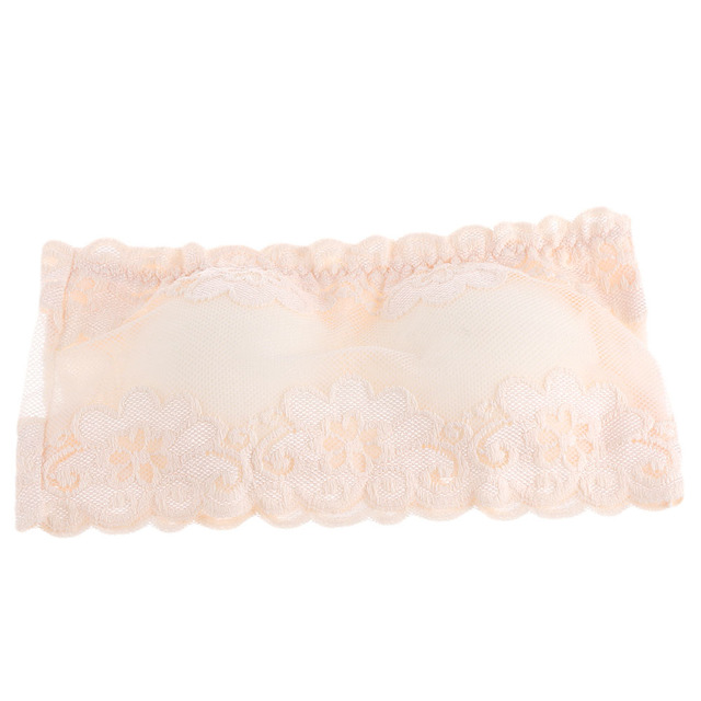 1PC Popular Women Sexy Brassiere Lace Bra Prevent Exposed Wrapped Chest Breathable Lingerie Padded Bra Tube Top 5 Colors