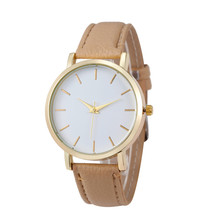 2017 Fashion Brand Casual Dress Watches For Women Quartz Gold PU Leather Band Wrist Watches relogios femininos hombre