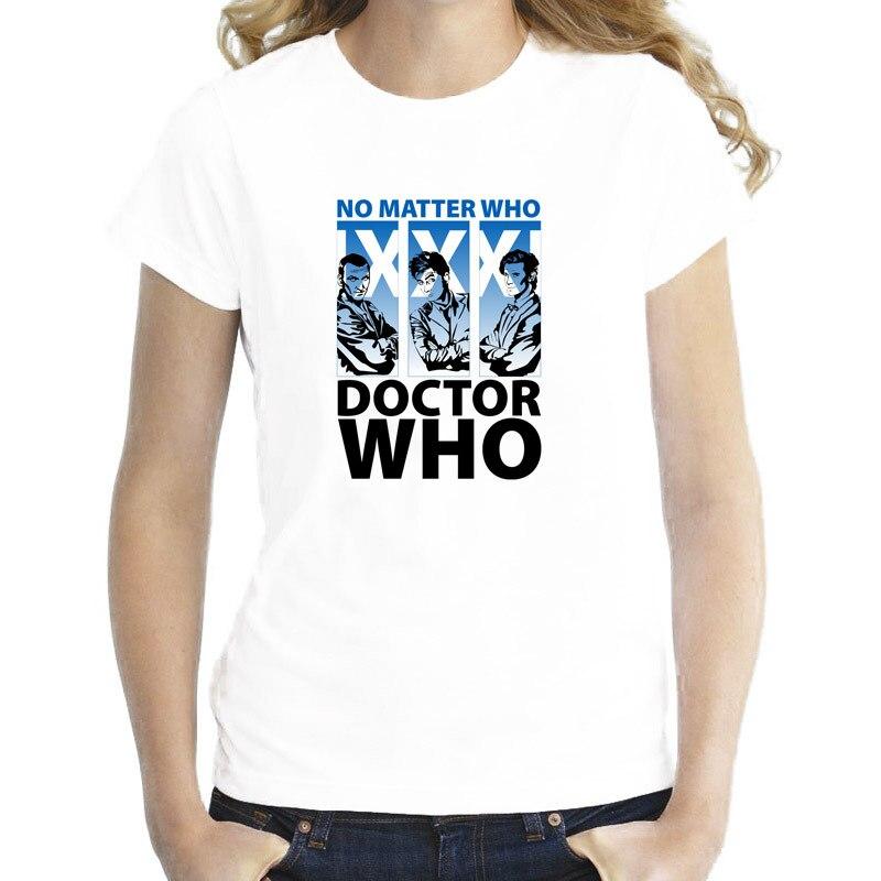 doctor who New 2017 t-shirt women novelty O-neck girl kawaii tshirt Fashion design female Top WTW160