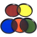 Color Filter Set Blue Yellow Orange Red Green + Cap for 52mm Lens  D90 LF068