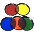 Conjunto de filtros de color azul amarillo orange rojo verde + tapa para 52mm lente d90 lf068