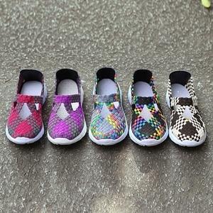 Image 5 - STQ 2020 Autumn Women Flats Shoes Women Woven Shoes Flat Sneakers Shoes Female Ballet Flats Multi Eva Loafers Ladies Shoes 609