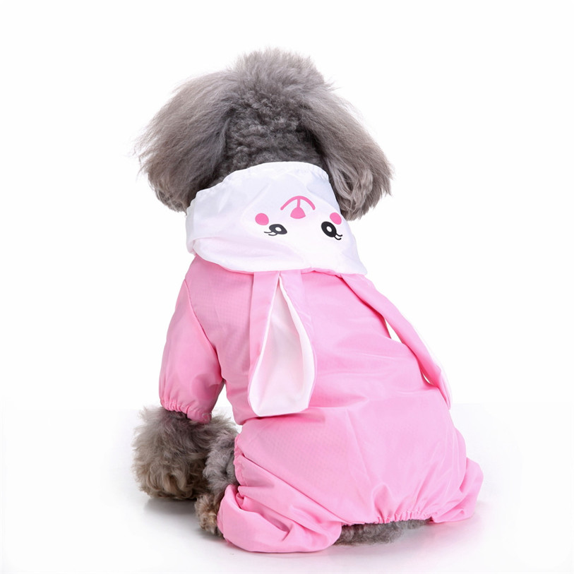 Cute Frog Rabbit Raincoat for Dogs Transparent Dog Raincoat Waterproof Hooded Cloak Summer Clothes for Dogs Dropshipping 40AT14 (23)