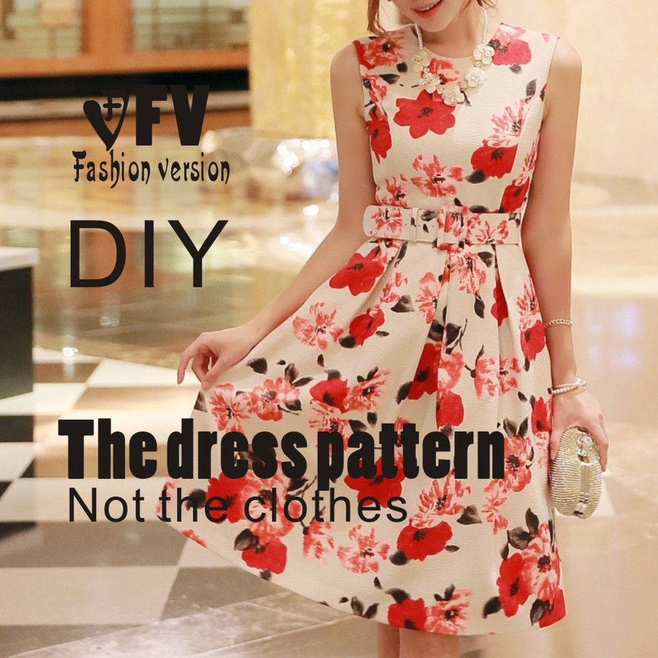 Dresses Sewing Pattern Template Cutting Drawing Clothing DIY ((Not Selling Clothes))  BLQ- 199