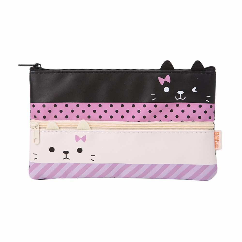 THINKTHENDO Cosmetic Makeup Toiletry Storage Bags Purse Cartoon Animal Pencil Pen Case Bag Casual Handbags Faux Leather New cartoon cosmetics bag pokemon go gravity purse bag received wallet makeup pencil pen case bag zelda pokemon ball purse bag wt004