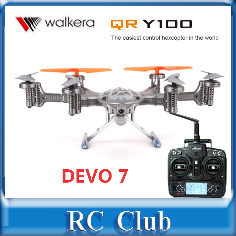 Walkera QR Y100 DEVO 7 transmitter FPV Hexacopter Drone Helicopter with Camera  / DEVO 7 Transmitter RTF yuneec typhoon h 5 8g fpv drone with realsense module cgo3 4k camera 3 axis gimbal 7 inch touchscreen rc hexacopter rtf