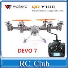 DEVO 7 transmitter Walkera QR Y100 FPV Hexacopter Drone Helicóptero con Cámara/Transmisor DEVO 7 RTF