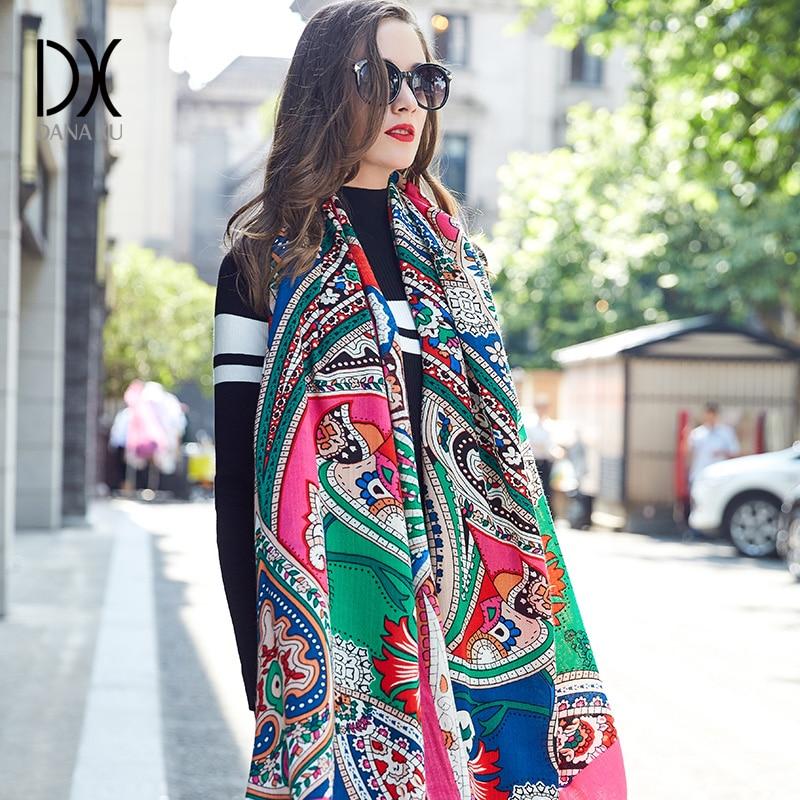 New Winter Scarf for Women Luxury Brand Pashmina Cashmere Poncho Blanket Scarf Wrap Wool Scarf Women