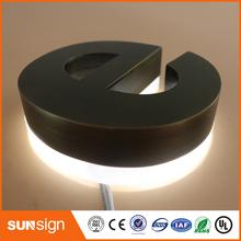 Wodoodporny LED szczotkowany materiał akrylowy led podświetlany napis tanie tanio shsuosai stainless steel letter- sign backlit 0115