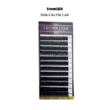 Crownlash Mink Like Flat Lash Extension 7 15mm mixed size tray Ultra soft false eyelash