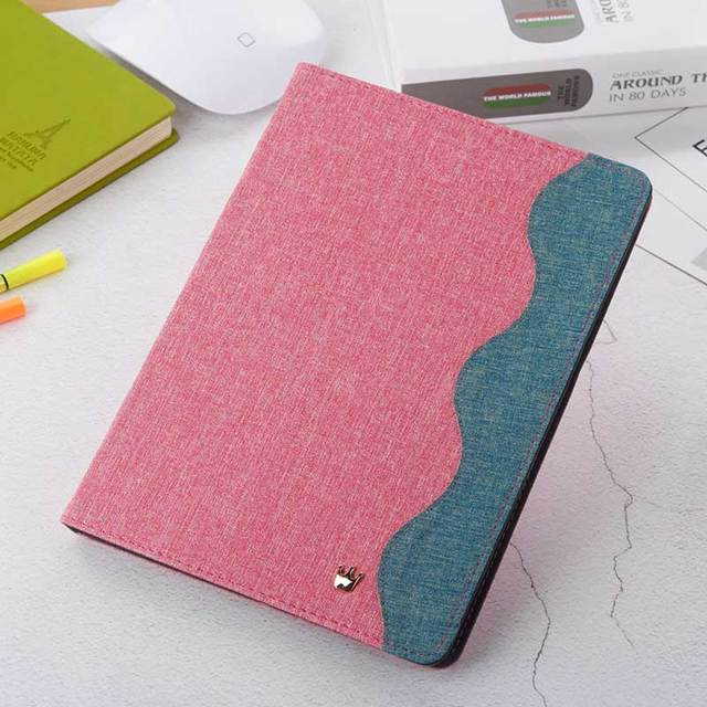 Wave Design Canvas Case for iPad 2
