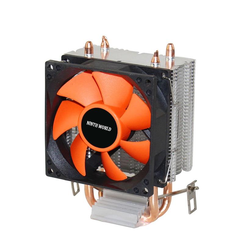 Nworld 2 Heatpipes CPU Refroidisseur En Aluminium Radiateur TDP 18dab Super Silencieux CPU Ventilateur Pour LGA 775/1150/1151 /1155/1156/1366 & FM1/2