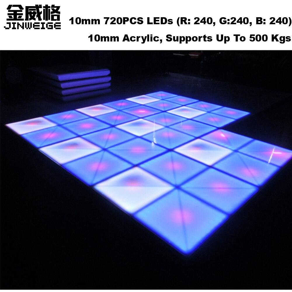 IP65 Waterproof 10mm 720PCS RGB Led Dance Floor Wedding DJ ...