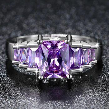 טבעת נישואין לאישה סגול