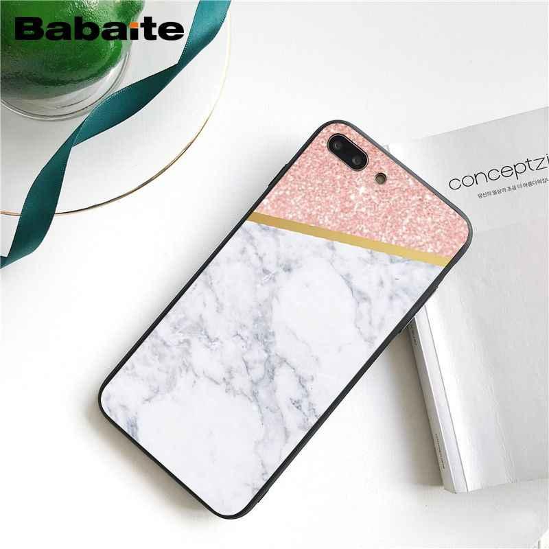 Babaite rosa linha de mármore ouro caso telefone para iphone 11 pro 11pro max x xs max 6s 7 mais 8 8 mais 5 5S se xr