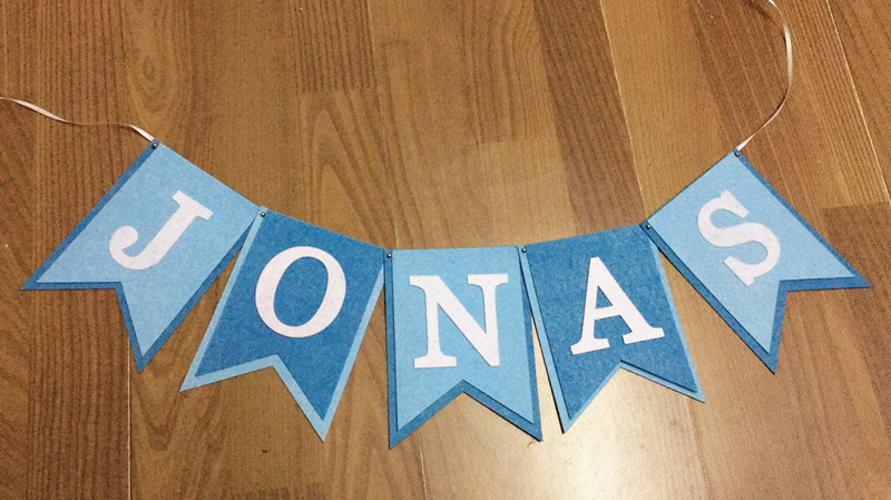 New Personalized Boy Name Banner Felt Bunting Blue Prince Theme