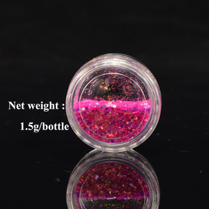 Image 5 - 1 Box Shiny Nail Sequins Glitter Tips UV Gel Nail Art Decoration Colorful Nail Glitter Powder Dust Manicure Accessory BENC342