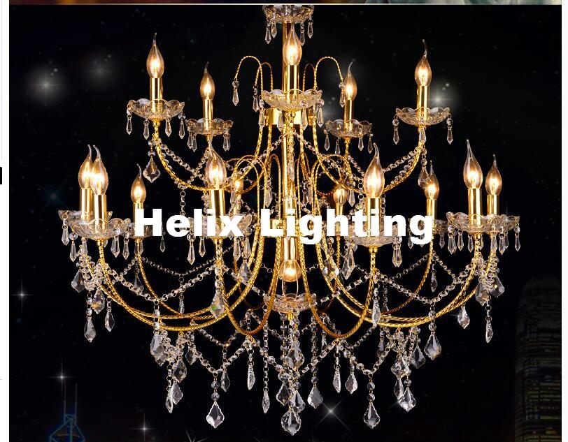 Newly Arrival Golden E14 D92cm Modern Crystal Chandelier Lamp 16 Lights, Lustre De Crystal,Lustres De cristal Chandelier LightsNewly Arrival Golden E14 D92cm Modern Crystal Chandelier Lamp 16 Lights, Lustre De Crystal,Lustres De cristal Chandelier Lights