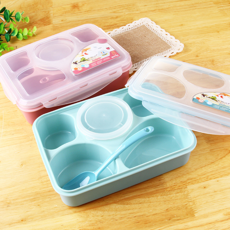 plastic lunch case students collar bento boxes cartoon. Black Bedroom Furniture Sets. Home Design Ideas