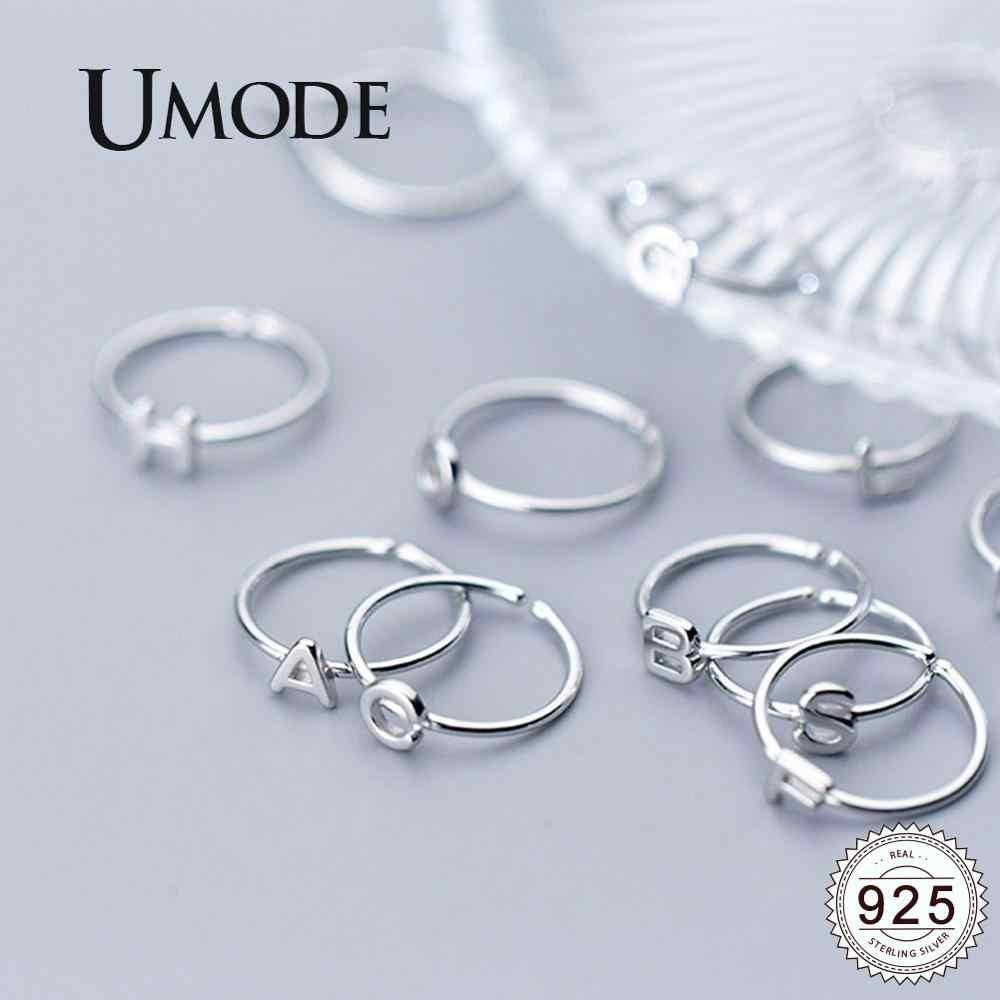 UMODE เกาหลี 925 แหวนเงินสเตอร์ลิงอินเทรนด์ Bab เปิดแหวนผู้หญิงใหม่เงินของขวัญหญิง Femme เครื่องประดับ ULR0737A
