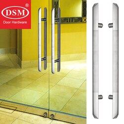 Trójkątny typ rury ze stali nierdzewnej drzwi wejściowe ciągnąć uchwyt dla drewniane/szkło/metalowa rama drzwi PA 142 40 * 800mm w Klamki do drzwi od Majsterkowanie na