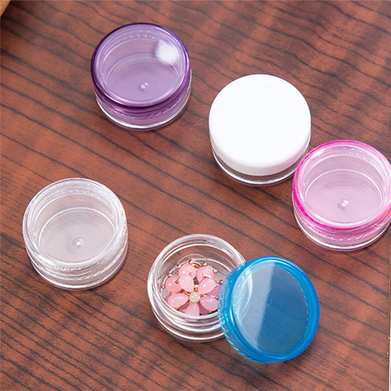 2 Pcs Set Plastic Reusable Cosmetics Jar Pot Portable Makeup Face Cream Eyeshadow Lip Balm Sample Container 3g 5g Free Shipping in Refillable Bottles from Beauty Health