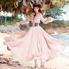 46ac724a6d3f0 Buy pink maxi long sleeve dress and get free shipping on AliExpress.com