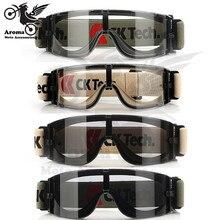 Прозрачные линзы мотоцикл очки хаки езда мотокроссу части atv внедорожных горный велосипед scooter moto очки мотоцикл защитные очки